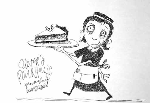 Oliver's Pourhouse doodle